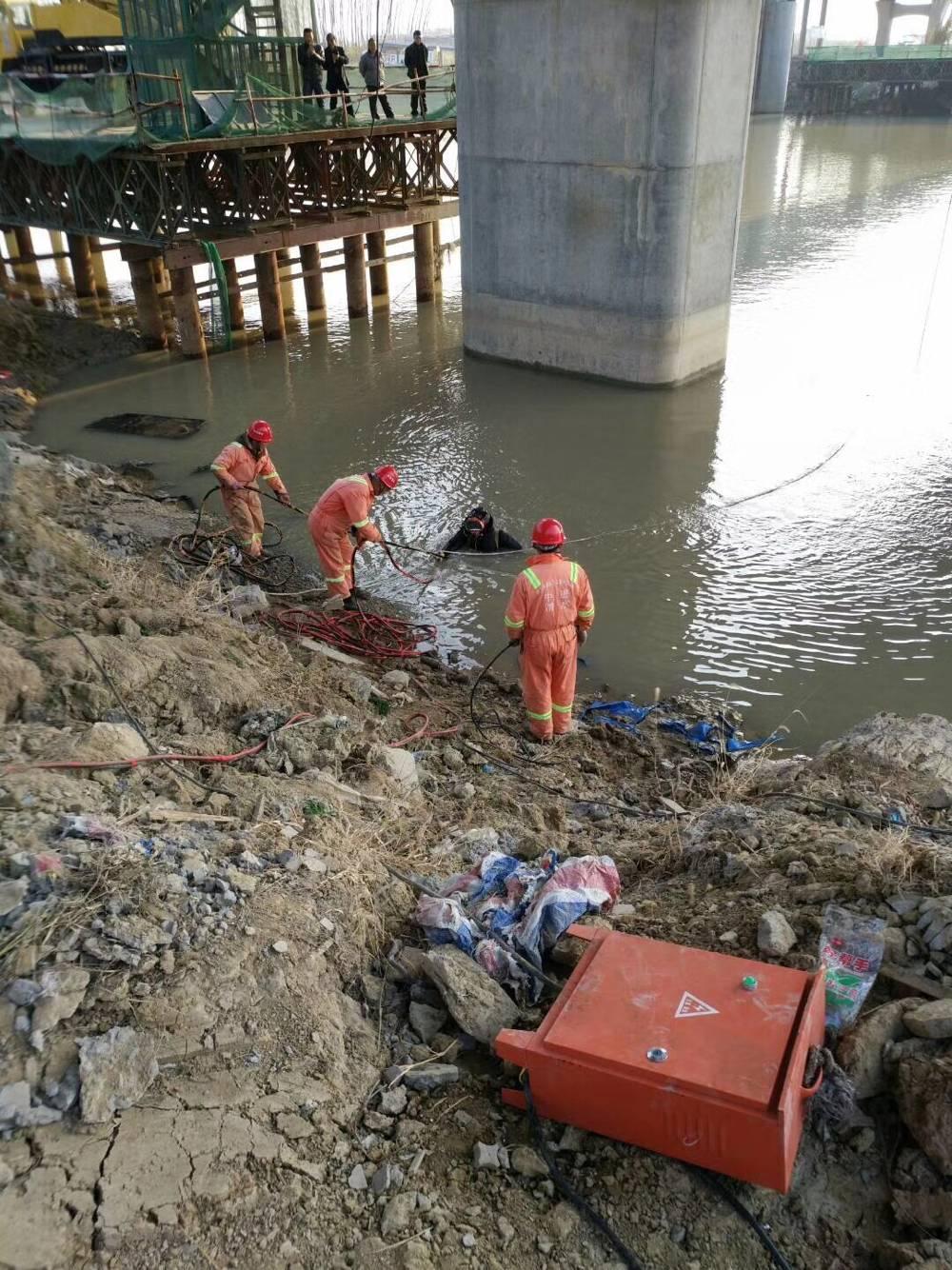 水泥桩水下切割