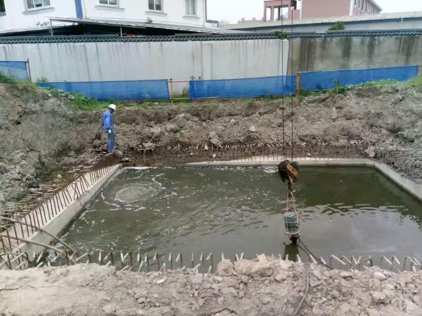 沉井封底施工